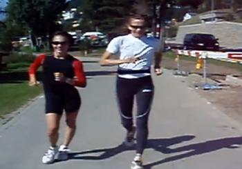 Race walk Athanasia Tsoumeleka with Platzer Kjersti